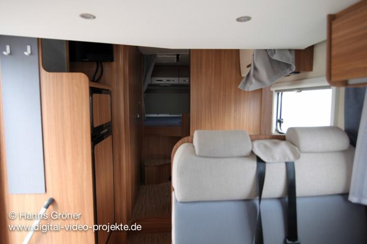 Carado T334 innen |Innenbereich mit offener Türe