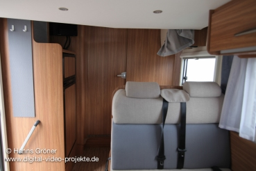 Carado T334 innen  Innenbereich mit geschlossener Türe
