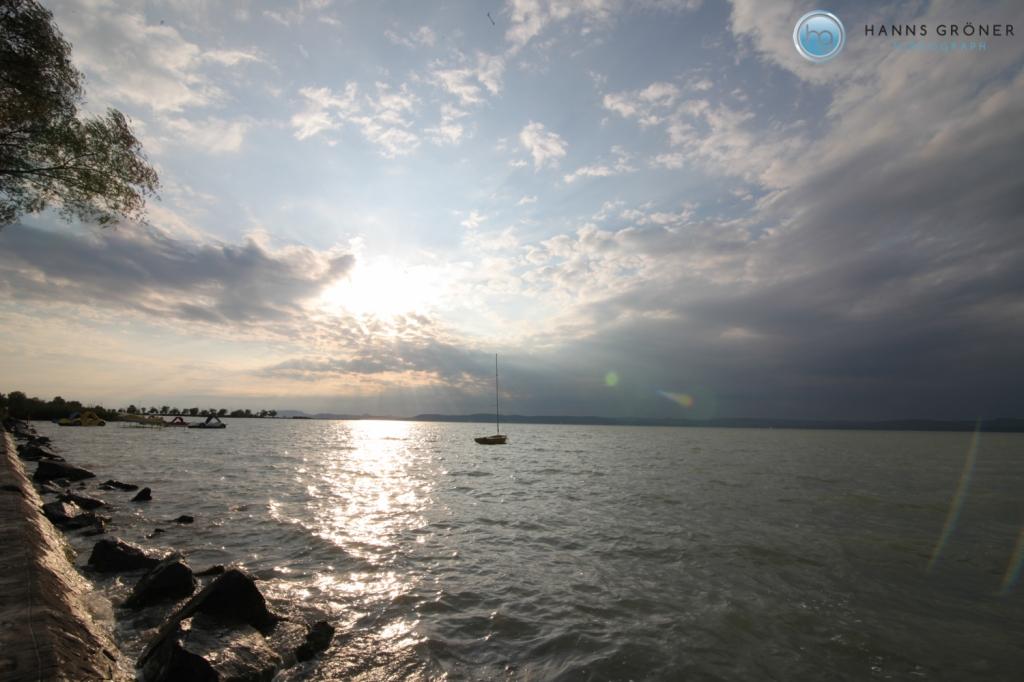 Ungarn |Plattensee bei Balatonszemes mit Blick auf Nordufer