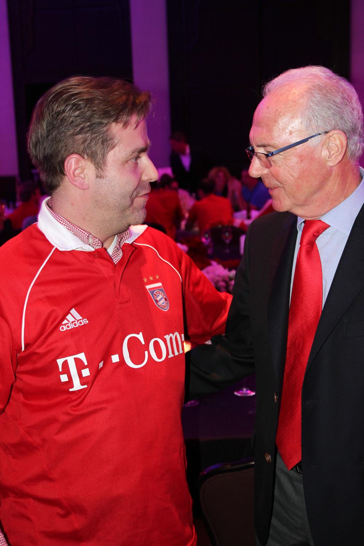 Hanns mit Franz Beckenbauer