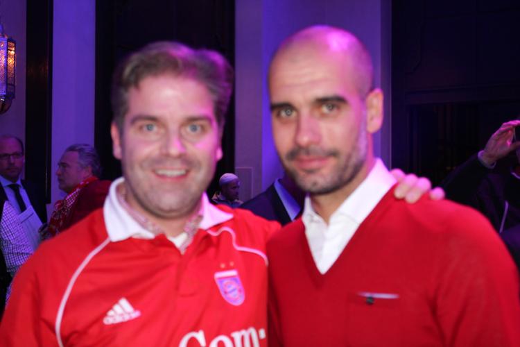 Hanns mit Pep Guardiola