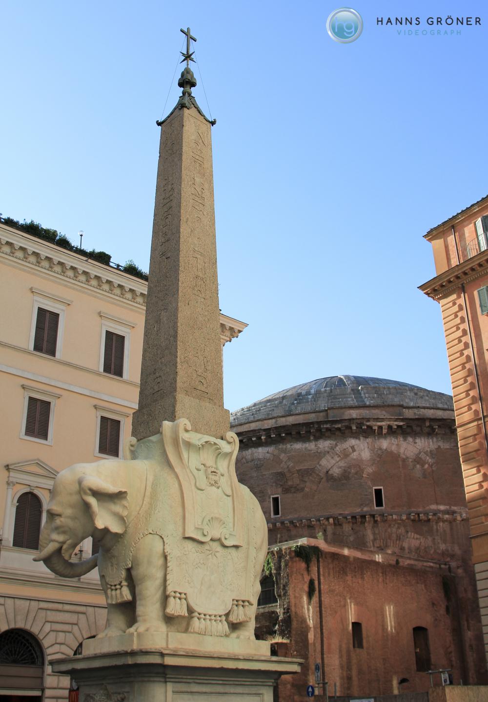 Italien |Rom - Obelisco della Minerva