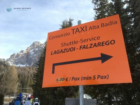 Taxi in Armentarola (Foto: Hanns Gröner)