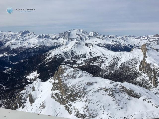 Lagazuoi Panorama mit Marmolata (Foto: Hanns Gröner)