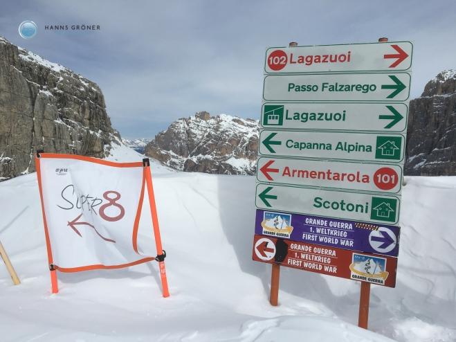 Abfahrt vom Lagazuoi nach Armentarola (Foto: Hanns Gröner)