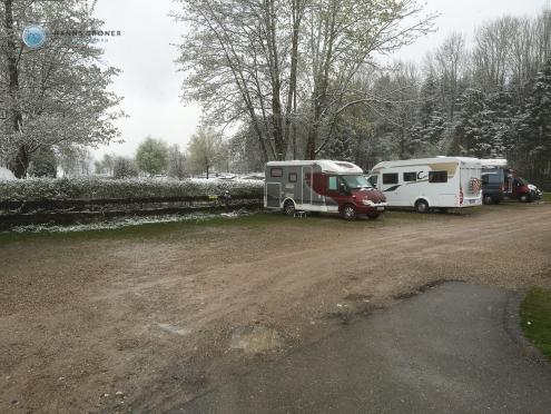Campingplatz Bannwaldsee - Einfahrt Wohnmobilpark