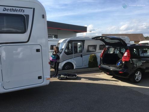 Bei McRent in Isny - Abholung des Dethleffs Globebus I006 GT (Foto: Hanns Gröner)