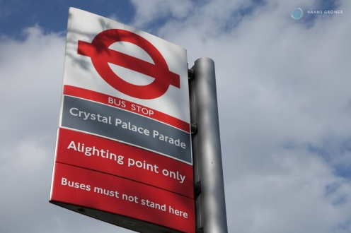 London Crystal Parade Bus Stop Linie 3 (Foto: Hanns Gröner)