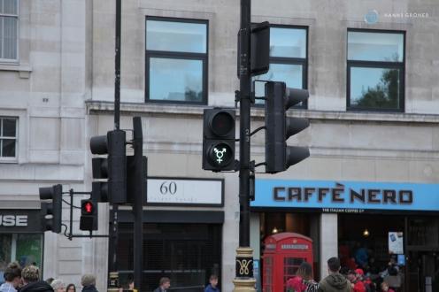 Gender Ampeln am Trafalgar Square in London (Foto: Hanns Gröner)