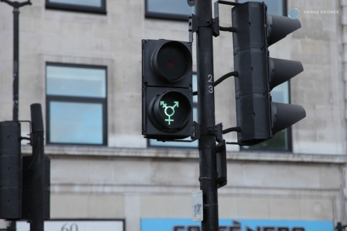 Gender Ampeln am Trafalgar Square in London (Foto: Hanns Gröner)