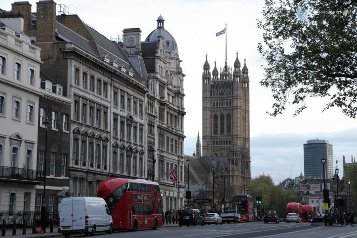 Victoria Tower des Westminster Palace (Foto: Hanns Gröner)