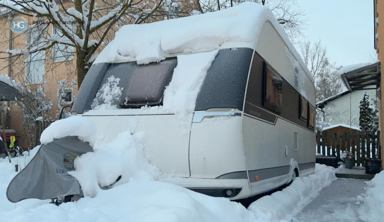 Wohnwagen im Schnee 2019 (Foto:Hanns Gröner)