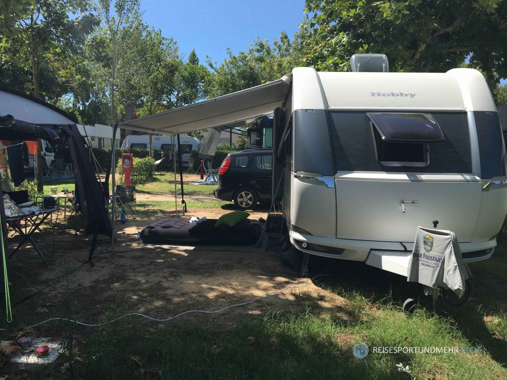 Camping Urlaub Sommer 2017 - unser Stellplatz