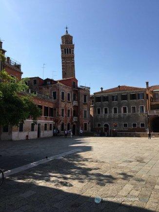 Venedig 2017 - auch im Zentrum von Venedig gibt es ruhige Plätze (Foto: Hanns Gröner)