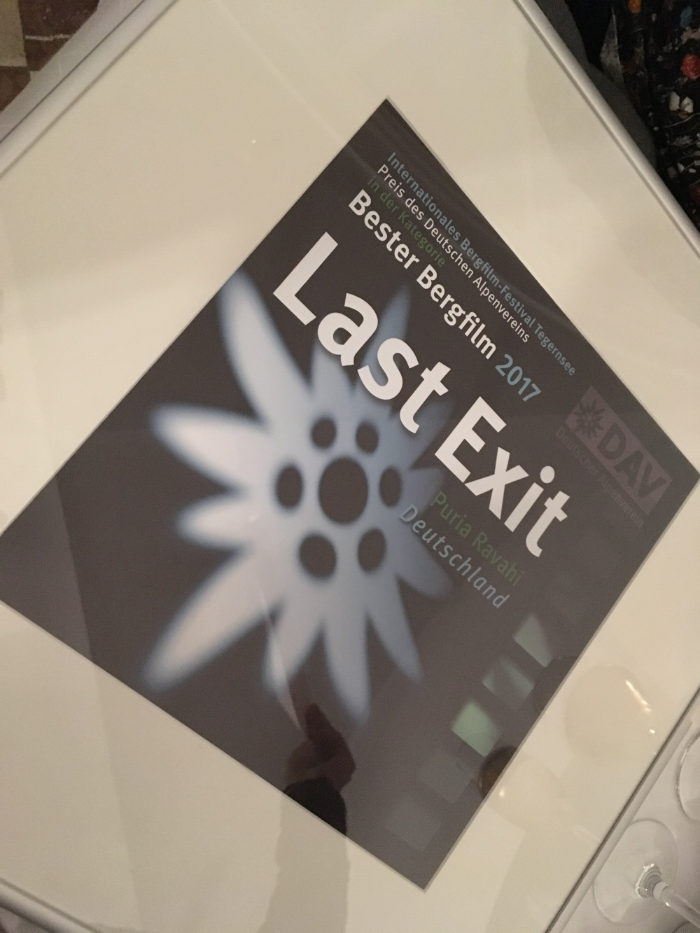 "Bergfilmfestival Tegernsee 2017 - Preis ""Last Exit"" (Foto: Hanns Gröner)"