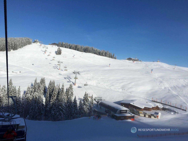 Scheffau 2. Dezember 2017 Blick zur Bergstation
