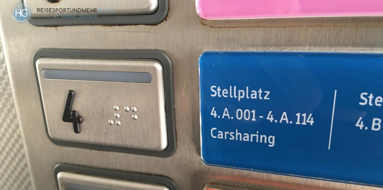 Flughafen Düsseldorf Parkplatz P7 (Foto: Hanns Gröner)