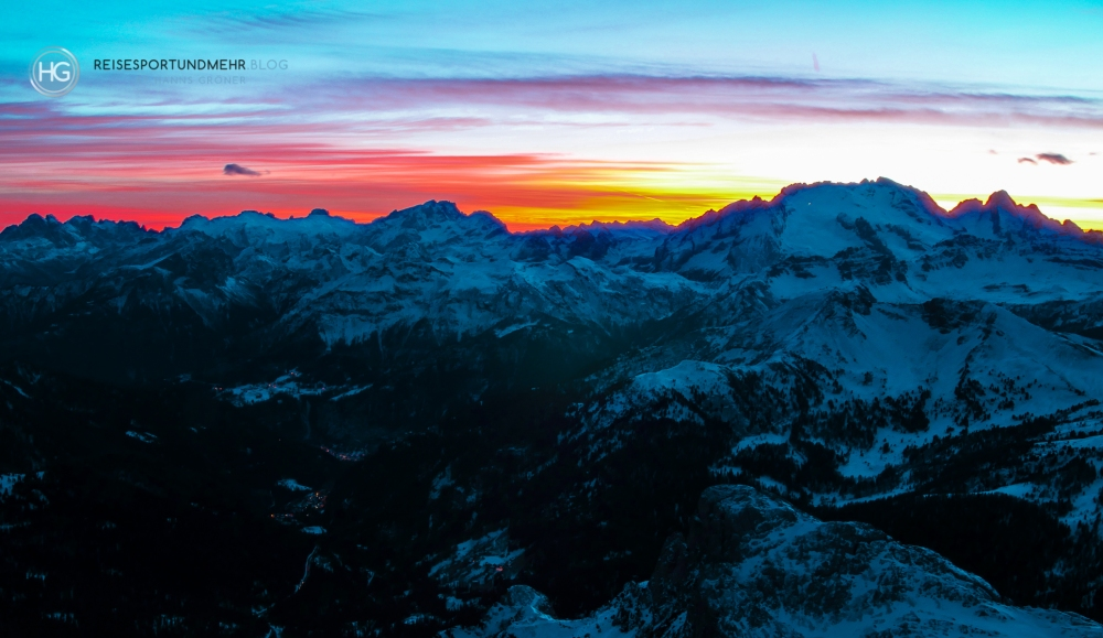 Skifahren in den Dolomiten - Dezember 2018 (Foto: Hanns Gröner)
