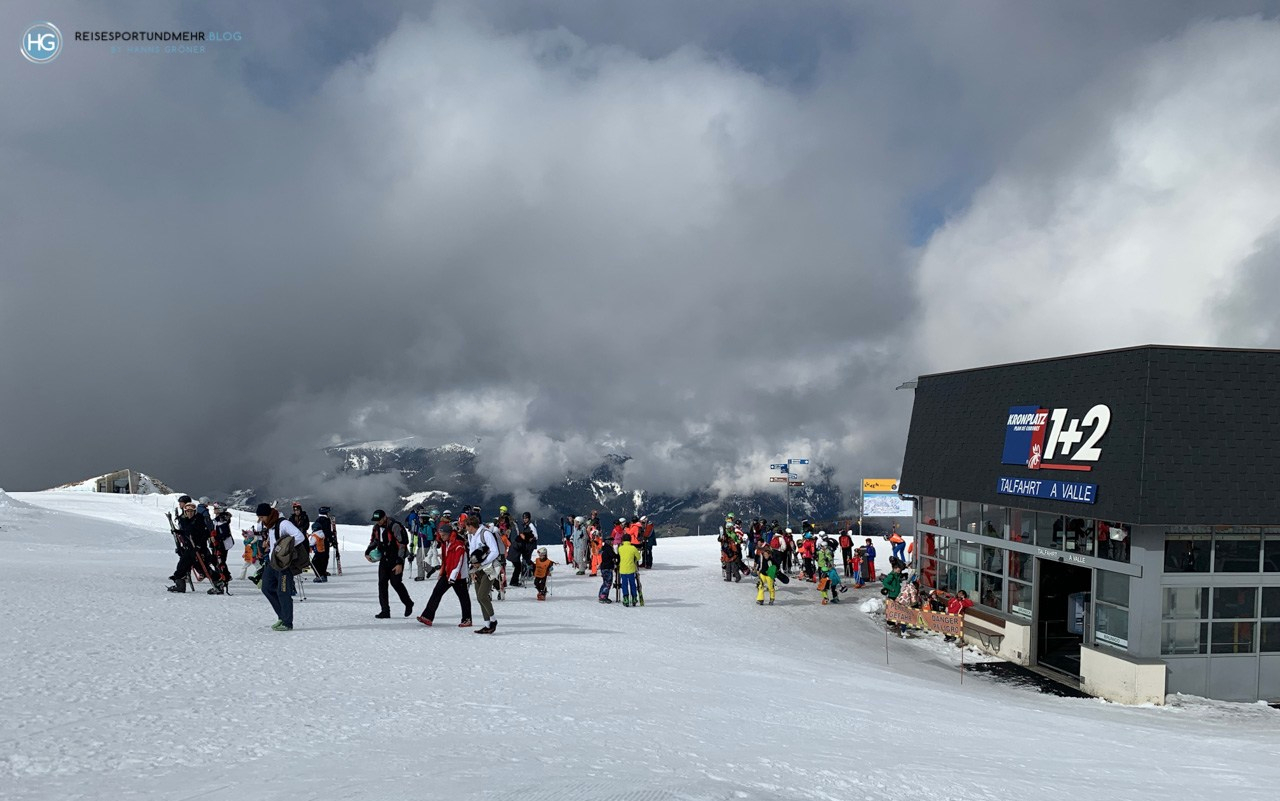 Skifahren in Südtirol im April 2019 - Kronplatz (Foto: Hanns Gröner)