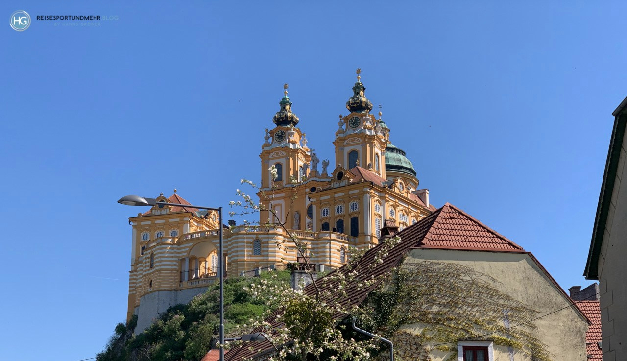 Stift Melk im April 2019 (Foto: Hanns Gröner)