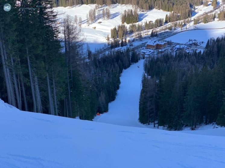 Skigebiet Drei Zinnen - Abfahrt Holzriese (Foto: Hanns Gröner)