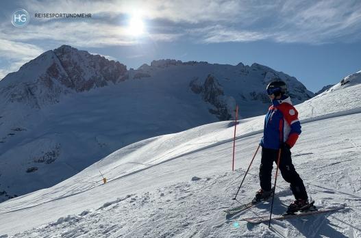 Dolomiten im Dezember 2019 - Blick auf die Marmolada (Foto: Hanns Gröner)