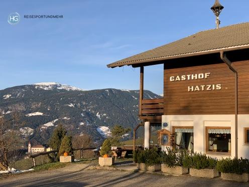 Gasthof Hatzis bei Lajen im Dezember 2019 (Foto: Hanns Gröner)