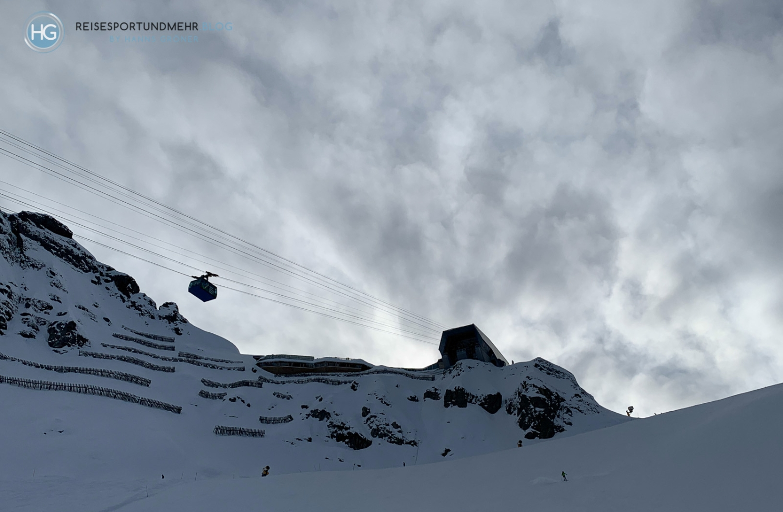 Dolomiten im Dezember 2019 - Bergstation der Porta Vescovo (Foto: Hanns Gröner)