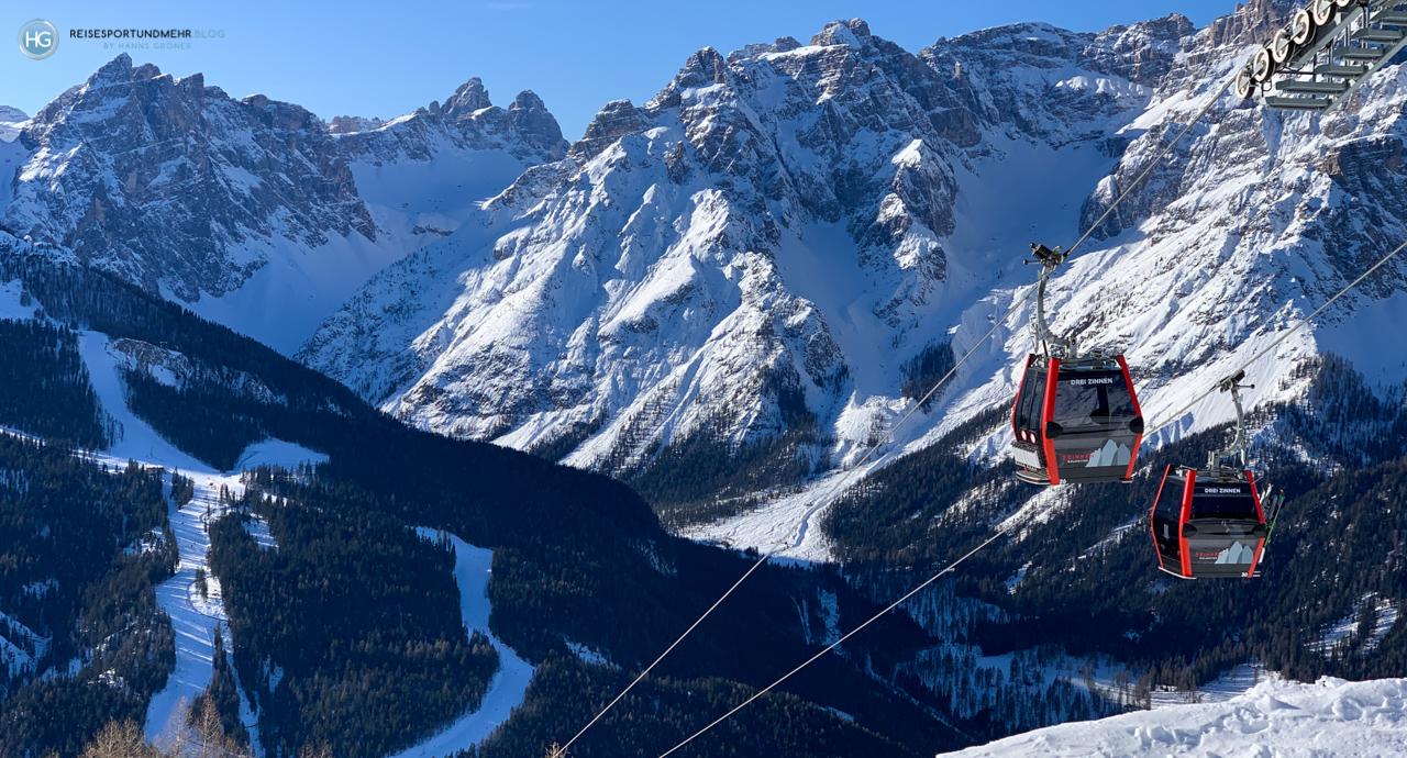 Dolomiten im Januar 2020 - Blick Richtung Rotwand (Foto: Hanns Gröner)