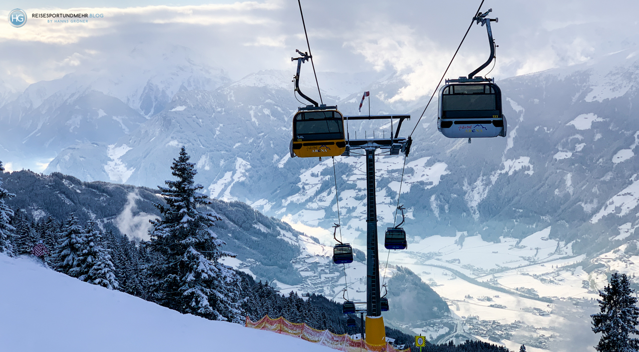 Zillertal im Januar 2020 – Rosenalmbahn in Zell am Ziller (Foto: Hanns Gröner)