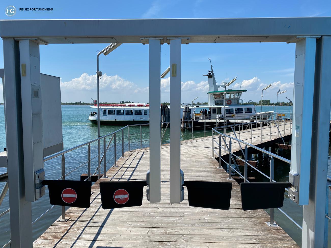 Schiffsanleger in Punta Sabbioni an Pfingsten 2021 (Foto: Hanns Gröner)