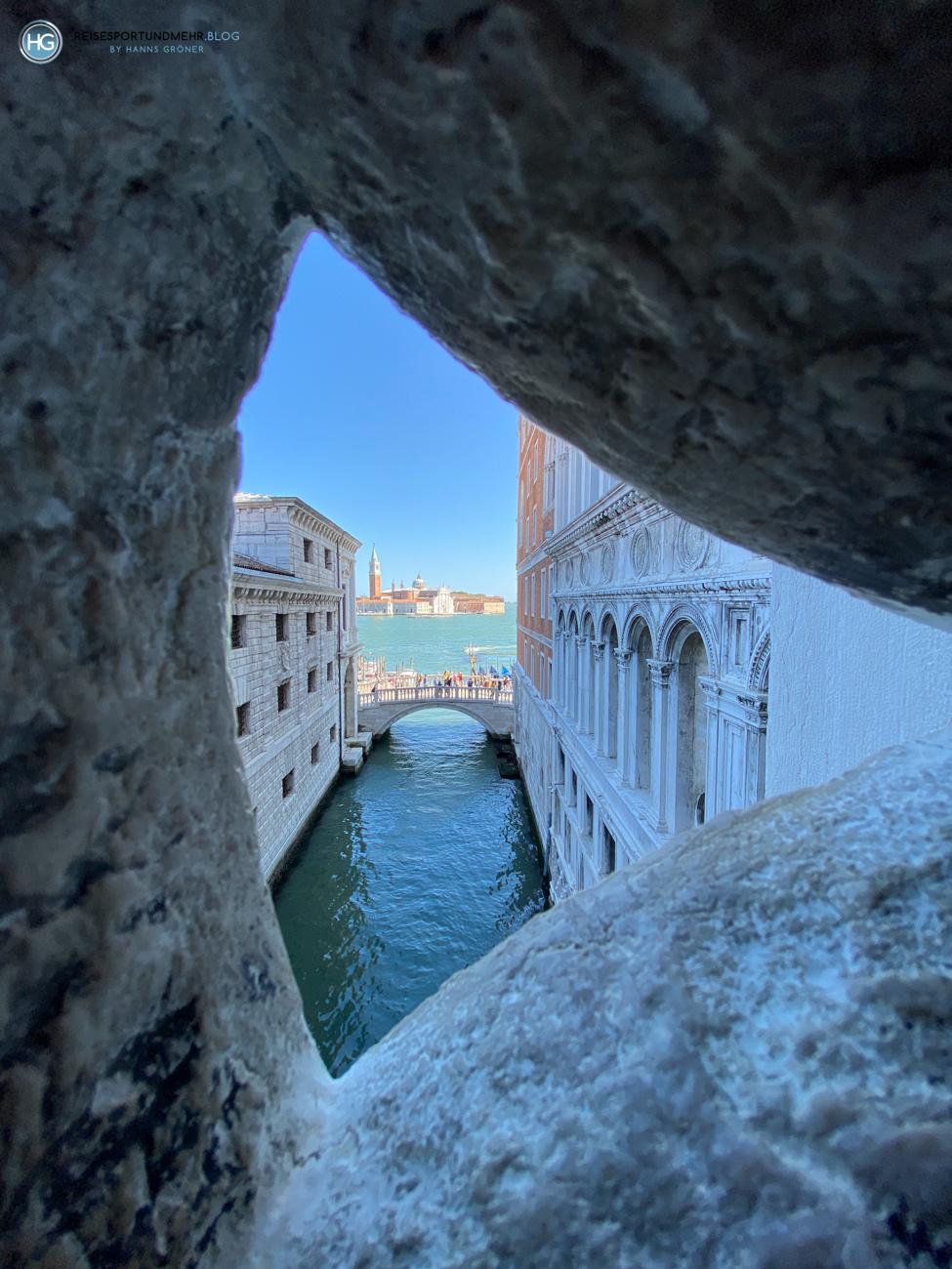 Blick von der Seufzerbrücke - Venedig 2021 (Foto: Hanns Gröner)