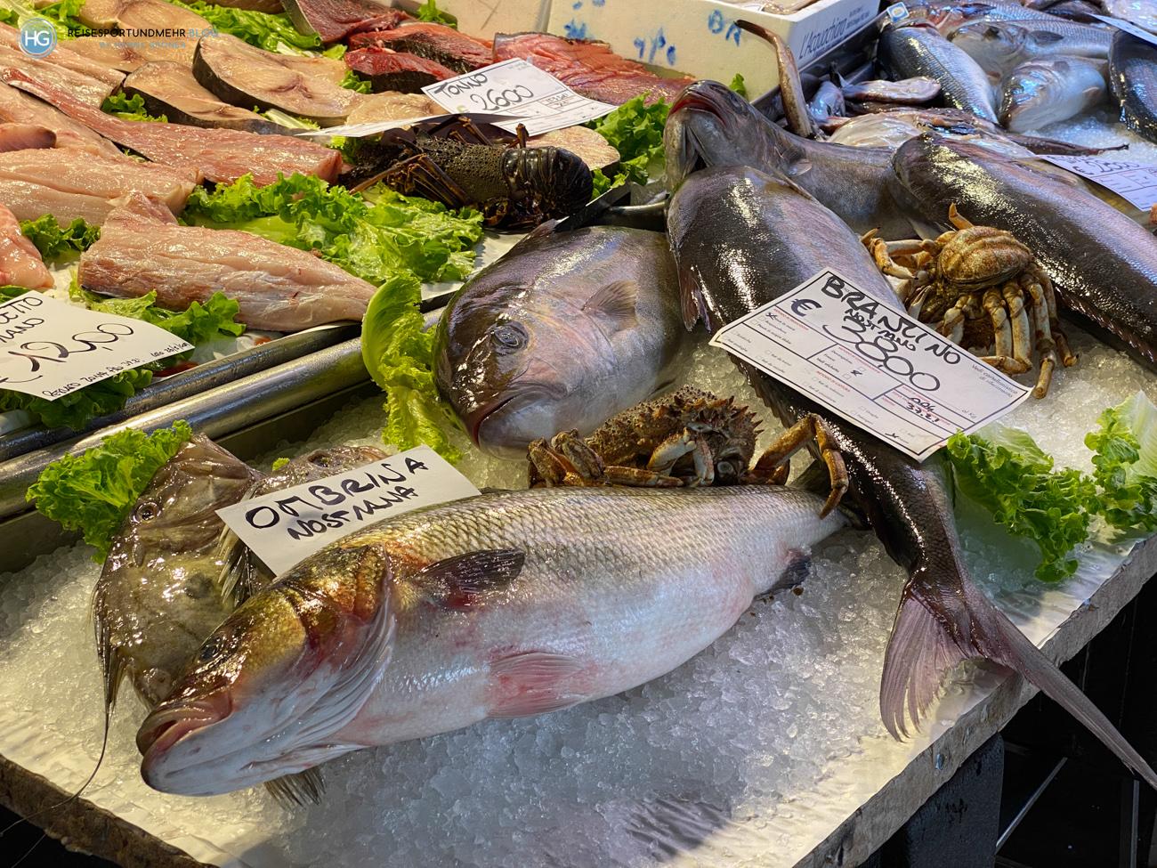 Venedig 2021 - Fischmarkt Rialto (Foto: Hanns Gröner)