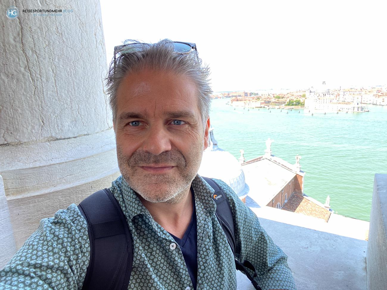 Venedig Pfingsten 2021 - wunderbare Aussicht vom Glockenturm San Giorgio (Foto: Hanns Gröner)