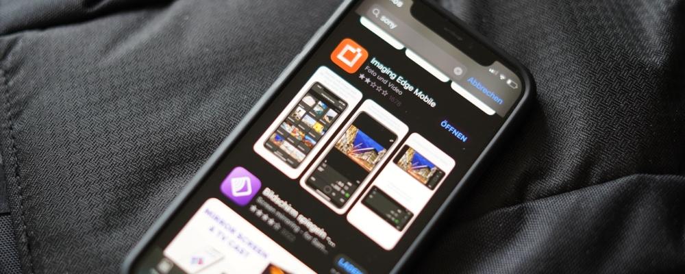 Die Imaging Edge Mobile App zur Übergragung von Fotos von der Sony Alpha auf das iPhone