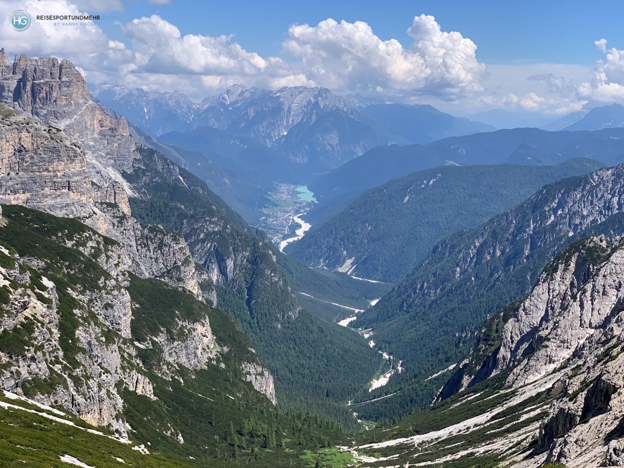 Dolomiten 2020 - Drei Zinnen - Blick Richtung Auronzosee (Foto: Hanns Gröner)